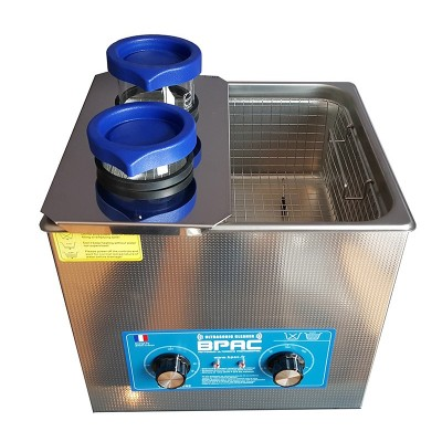 Couvercle inox support 2 becher cuve ultrason 10 litres